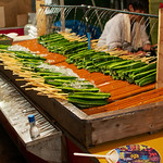 Osaka Tenjin Matsuri 2012. Cucumber on a stick! With salt! Delicous summer snack.