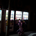 The over-done yukata and vending machine shot.